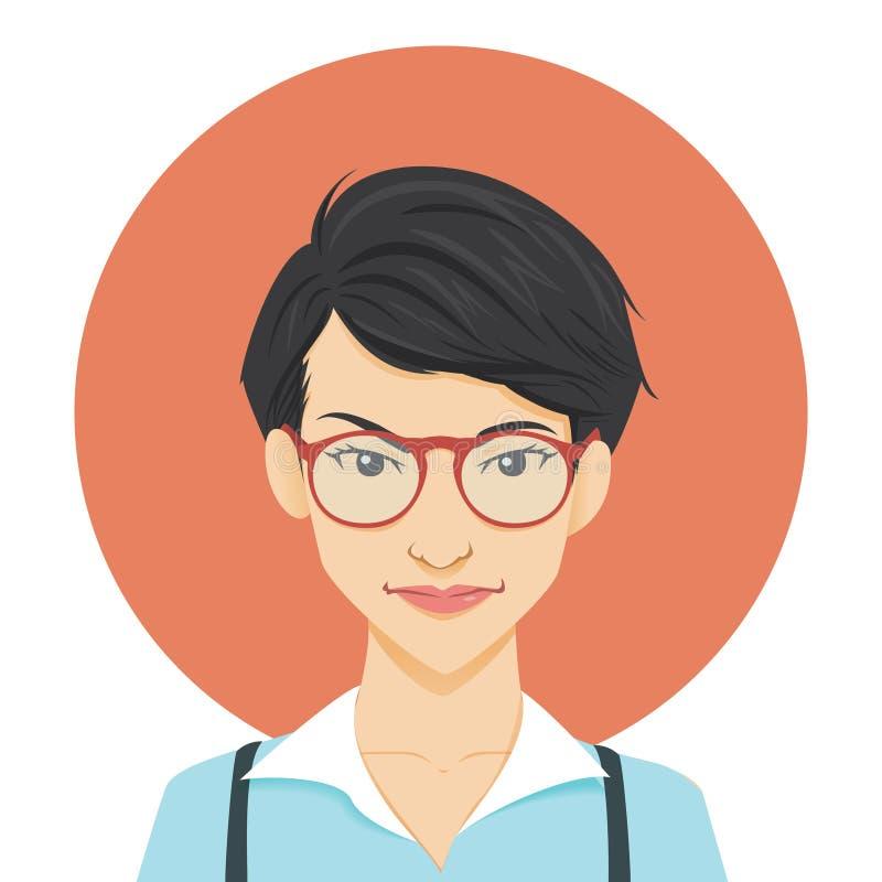 Geeky Girl stock illustration