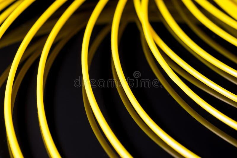 Geel ABS plastiek voor 3D printer royalty-vrije stock afbeelding
