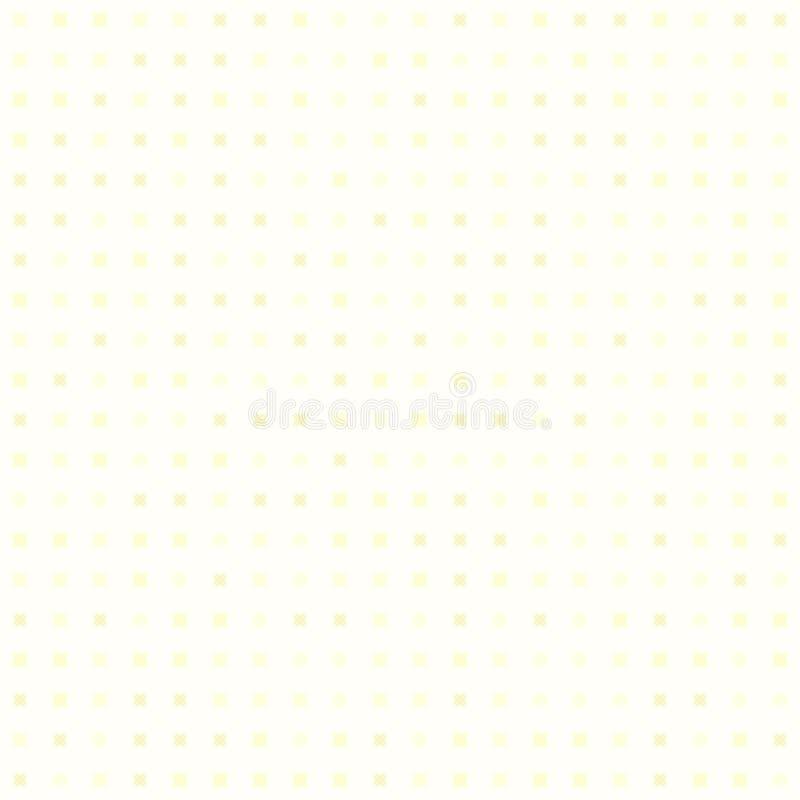 Geel abstract patroon Naadloze vector royalty-vrije illustratie