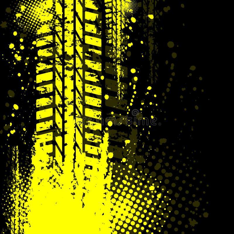 Geel achtergrondbandspoor vector illustratie