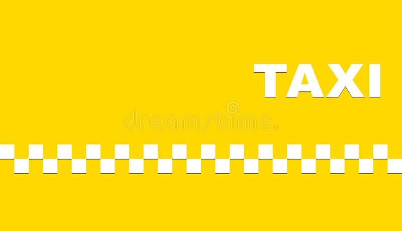Geel adreskaartje met taxi vector illustratie