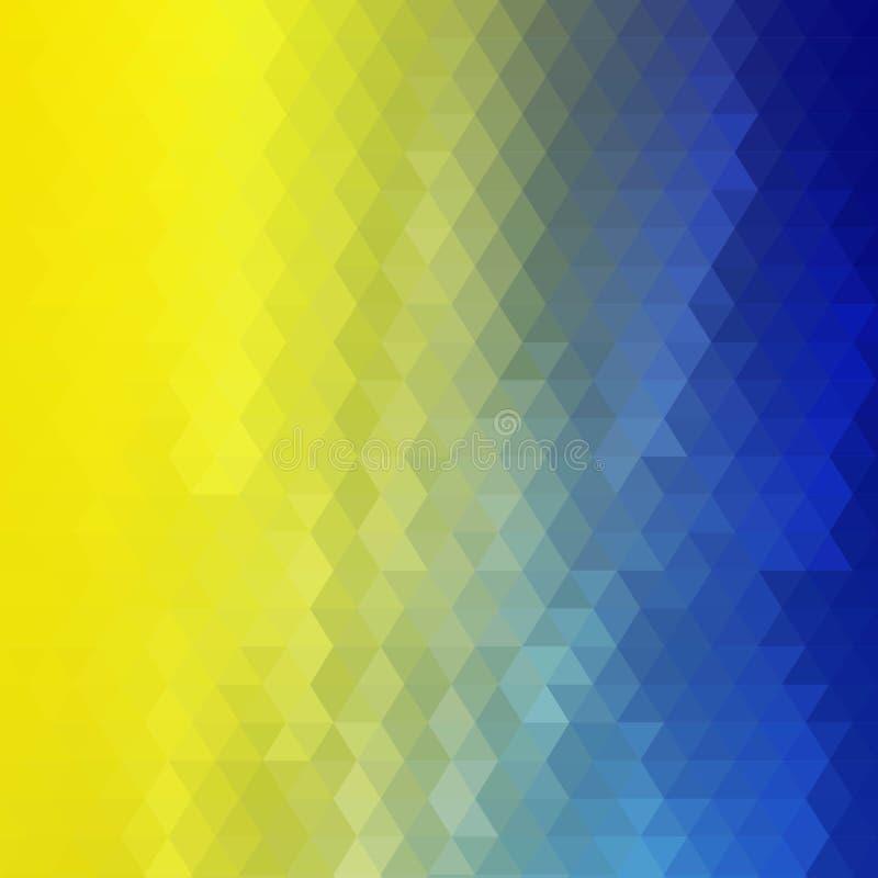 Geel - blauwe achtergrond van de driehoeken geweven en kleuren! Oekra?ense vlag Eps 10 royalty-vrije illustratie