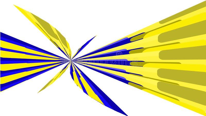 Geel-blauwe textuur, eenvoudige achtergrond van minimalistic abstracte multicolored heldere geometrische vormen, lijnen in de vor stock illustratie