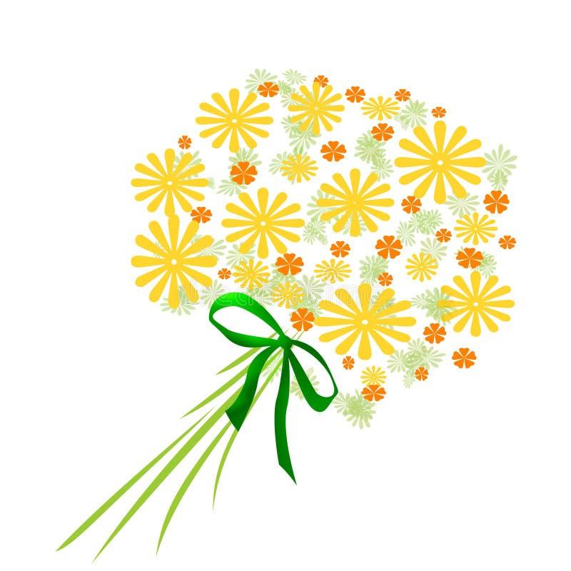 Geel bloemenboeket stock illustratie