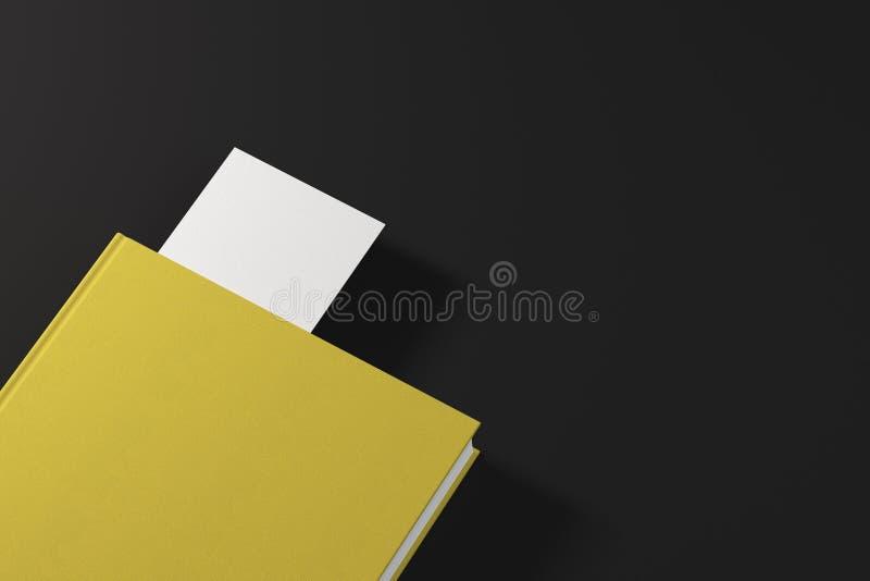 Geel boek met witte referentie vector illustratie