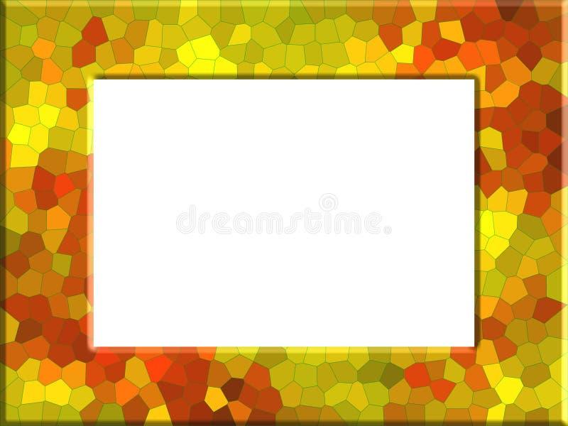 Geel-bruin fotokader in uitstekende stijl royalty-vrije illustratie