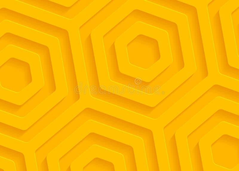 Geel document geometrisch patroon, abstract malplaatje als achtergrond voor website, banner, adreskaartje, uitnodiging vector illustratie