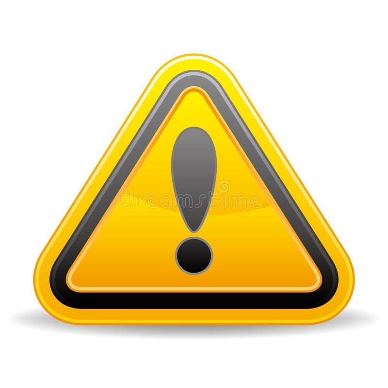 geel driehoekig waarschuwingssein royalty-vrije illustratie