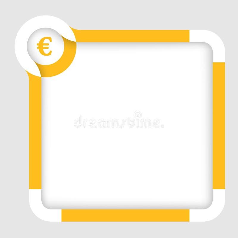 Geel euro teken vector illustratie
