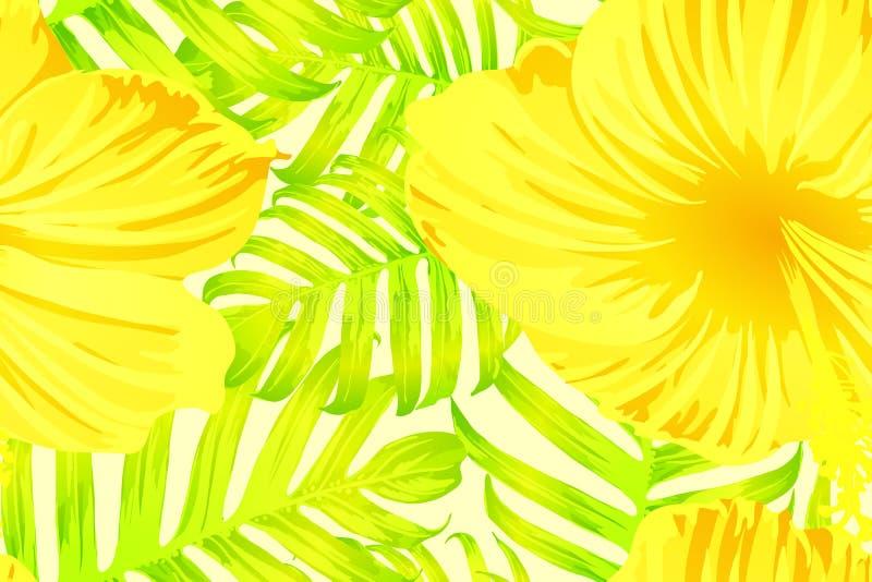 Geel exotisch patroon stock illustratie