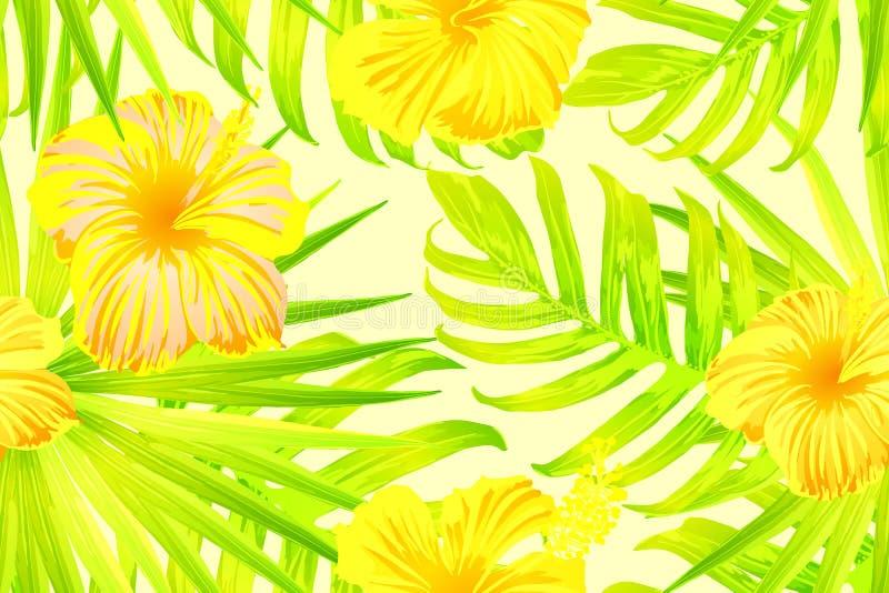 Geel exotisch patroon vector illustratie