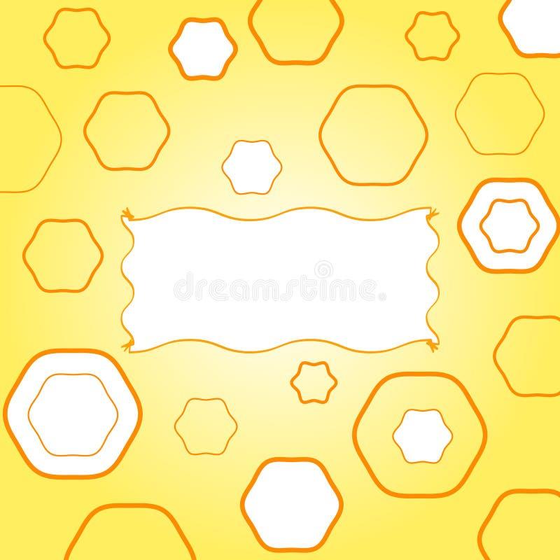 Geel funky frame stock illustratie