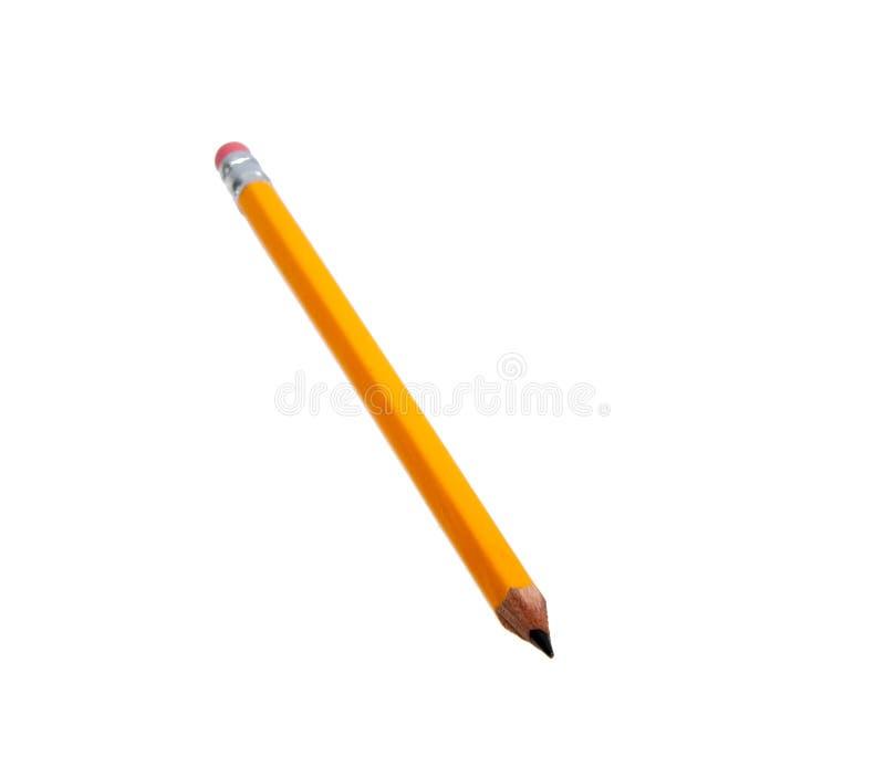 Geel geïsoleerd potlood stock afbeelding