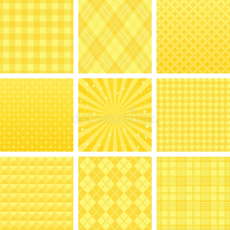 Geel gecontroleerd patroon stock illustratie