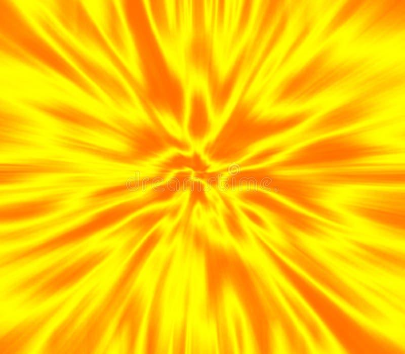 Geel gezoemonduidelijk beeld vector illustratie