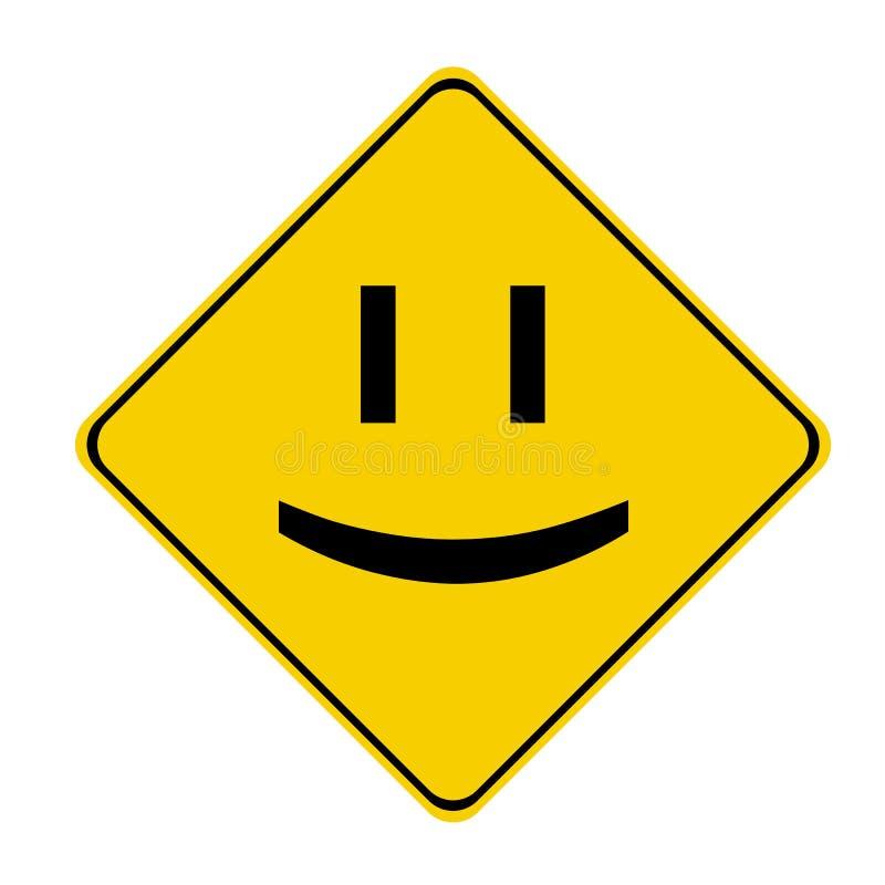 Geel glimlachteken vector illustratie