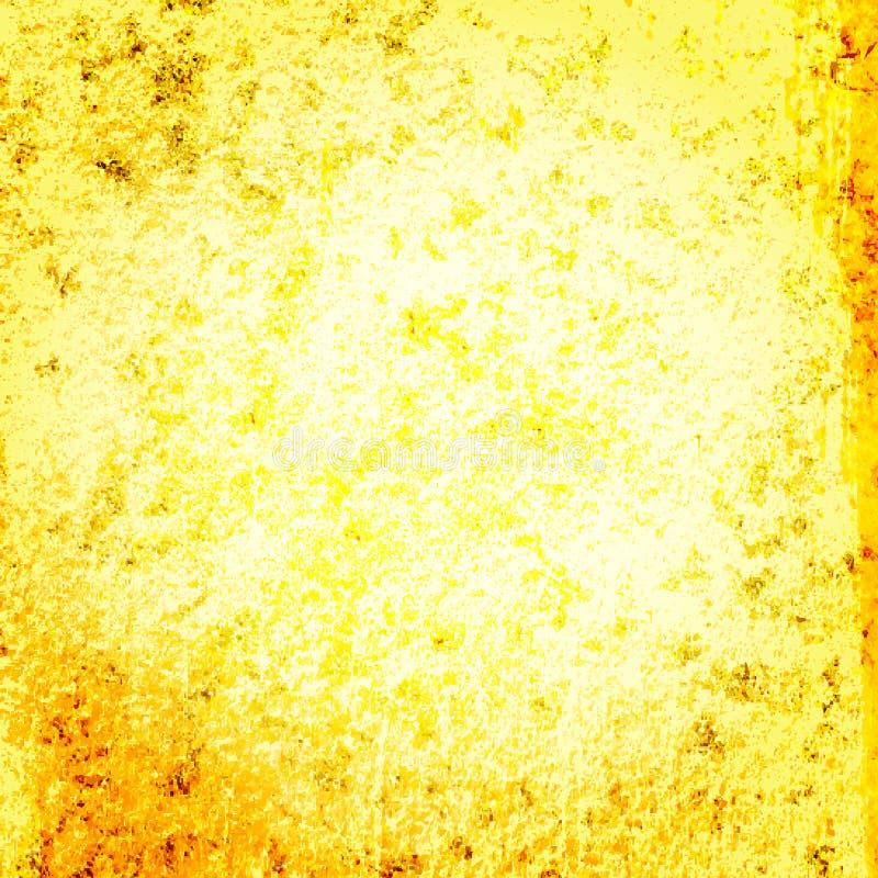 Geel goud grunge backgroun vector illustratie