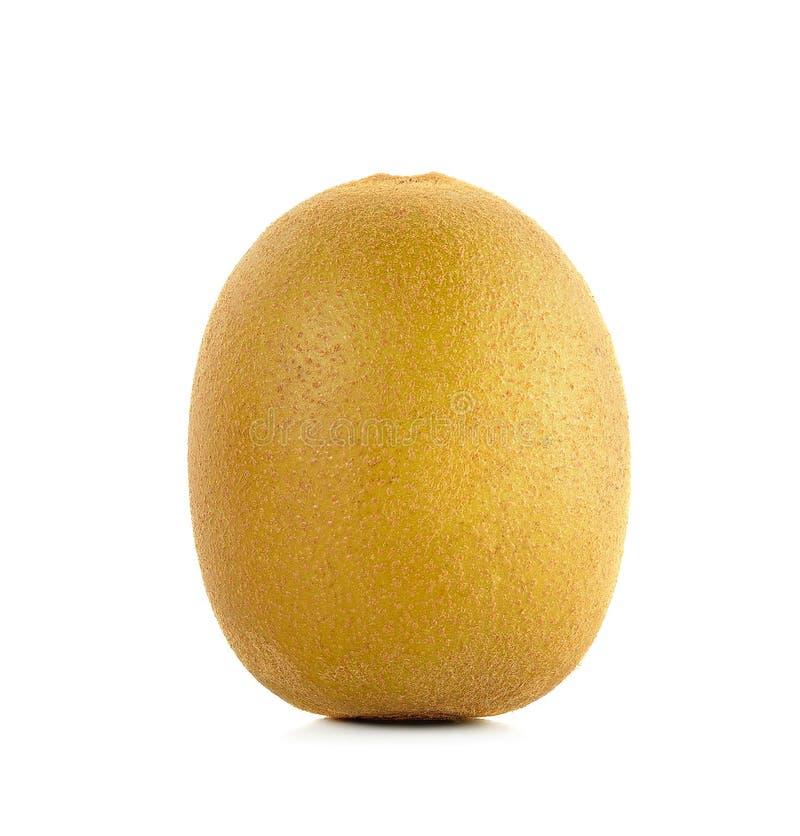 Geel gouden die kiwifruit op de witte achtergrond wordt geïsoleerd royalty-vrije stock foto's