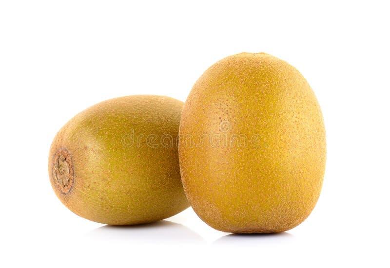 Geel gouden die kiwifruit op wit wordt geïsoleerd stock afbeelding
