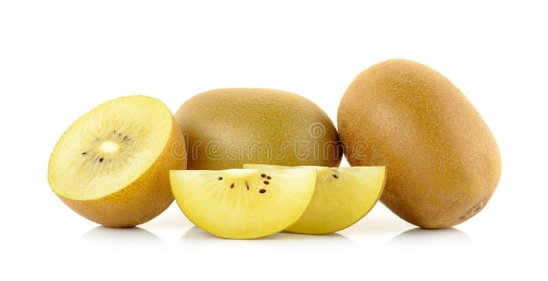 Geel gouden kiwifruit op de witte achtergrond royalty-vrije stock foto's
