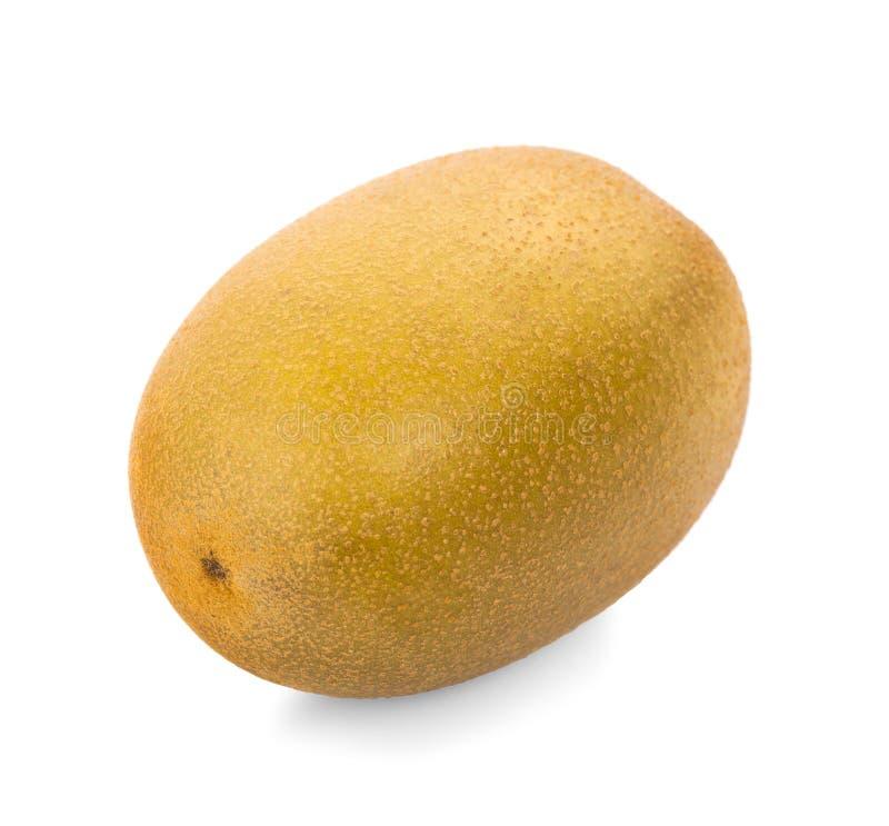 Geel gouden kiwifruit op een witte achtergrond stock foto
