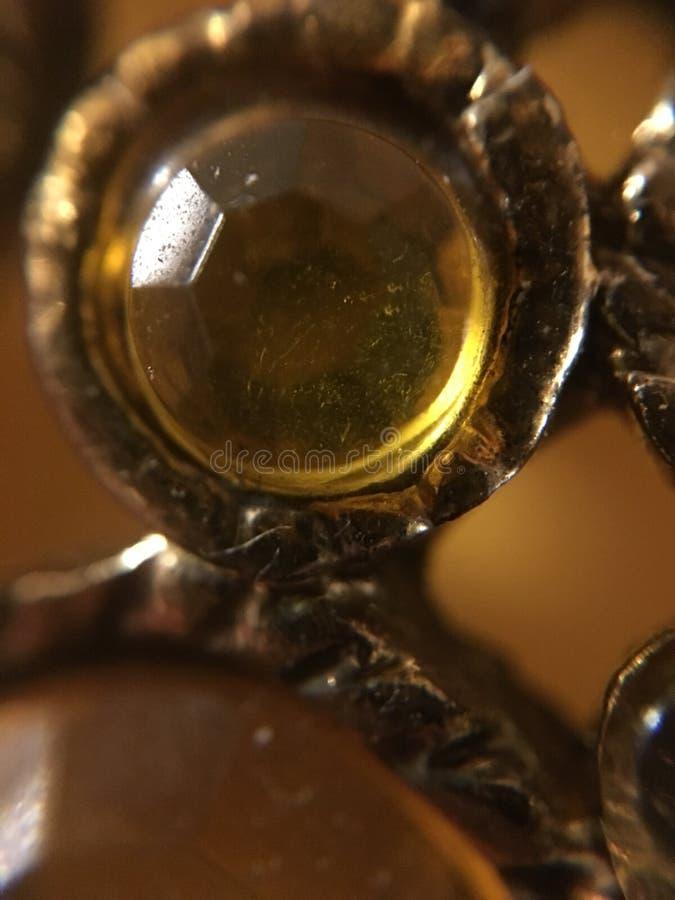 Geel-gouden parel royalty-vrije stock fotografie