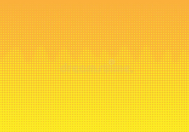 Geel Halftone Dots Wave Pattern Background stock illustratie