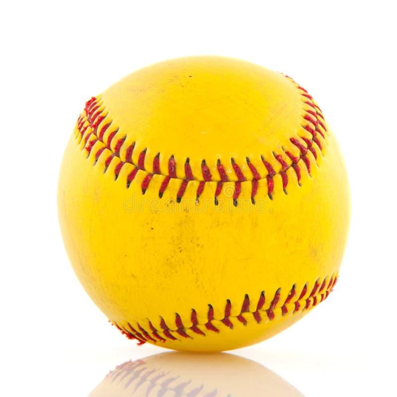Geel honkbal stock afbeelding