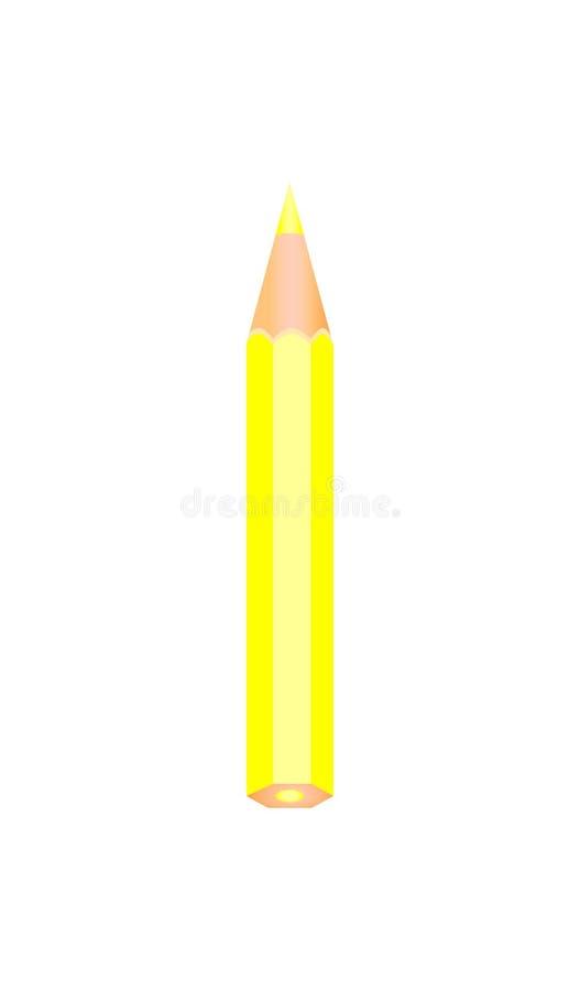 Geel kleuren houten potlood vector illustratie