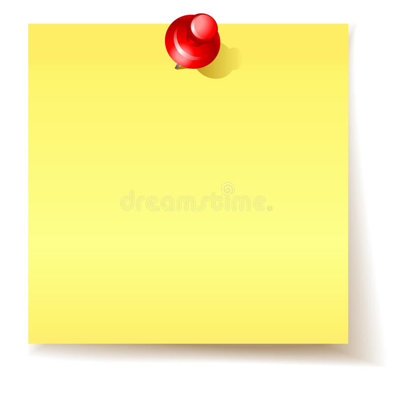 Geel kleverig document royalty-vrije illustratie