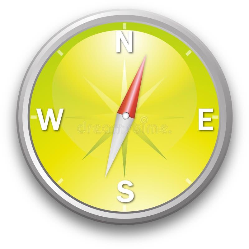 Geel kompas stock illustratie