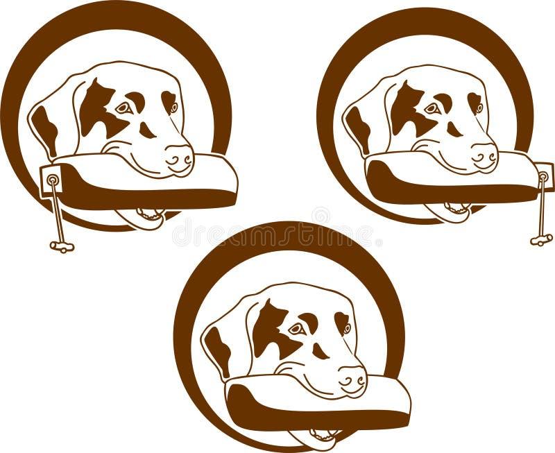 Geel Labrador op de witte achtergronden vector illustratie