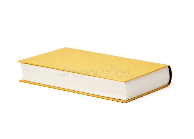 Geel leeg geïsoleerd boek royalty-vrije stock afbeeldingen
