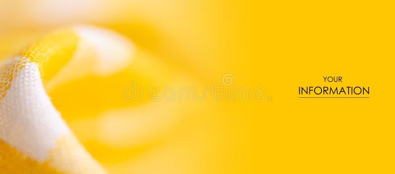 Geel materieel de textuurpatroon van de kooistof stock foto's