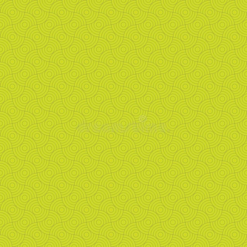 Geel naadloos patroon moderne modieuze textuur Het herhalen van geometrische tegels royalty-vrije illustratie