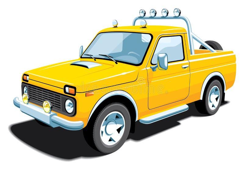 Geel off-road voertuig vector illustratie