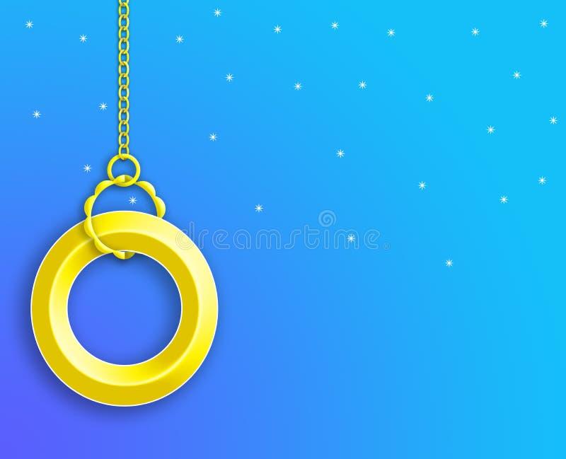 Geel Ring Background behang stock foto