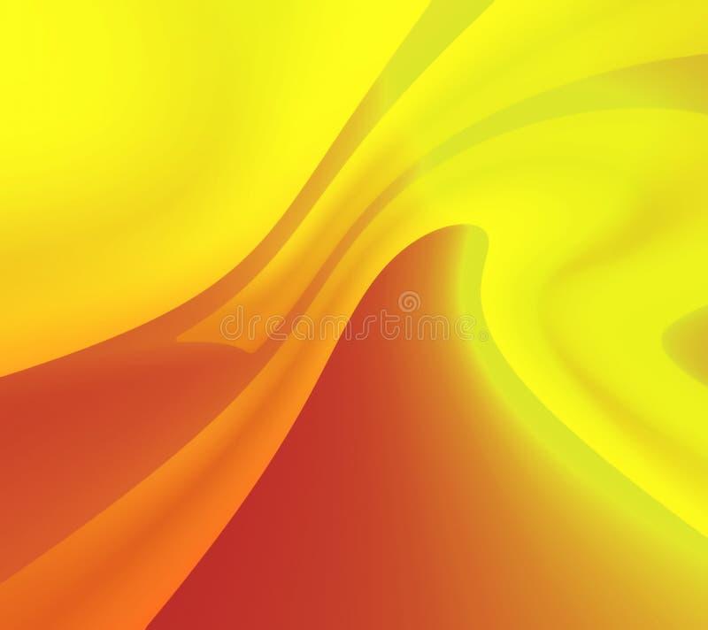Geel-rode abstractieachtergrond vector illustratie