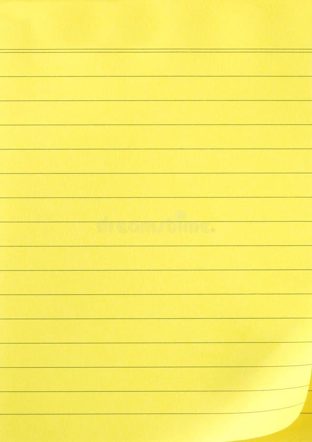 Geel Schrijfpapier royalty-vrije stock afbeeldingen