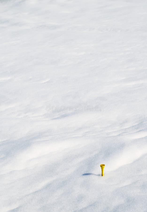 Geel T-stuk in Sneeuw royalty-vrije stock foto's