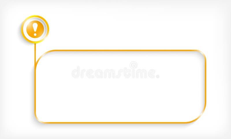 Geel tekstkader stock illustratie
