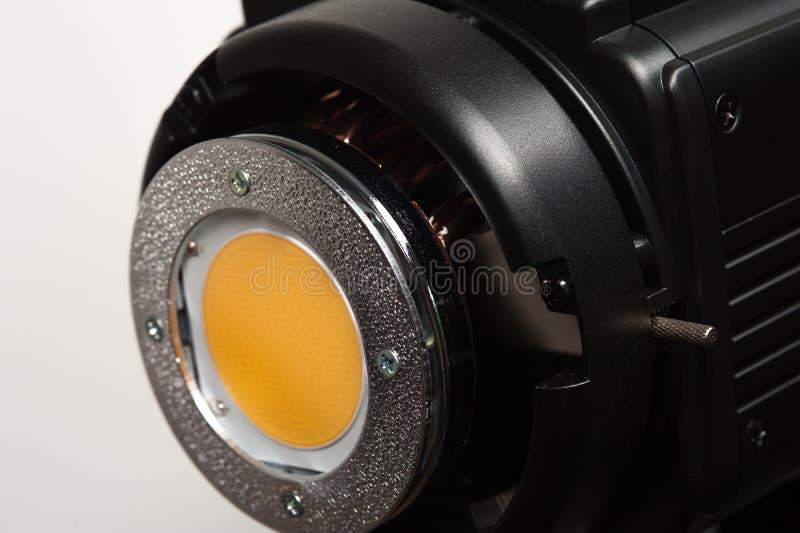 Geel verspreidend filterdeel van studioilluminator stock foto's