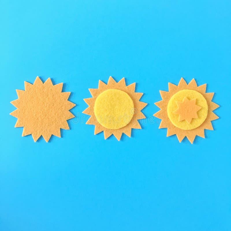 Geel viltstift met duale zelfstudie stock fotografie