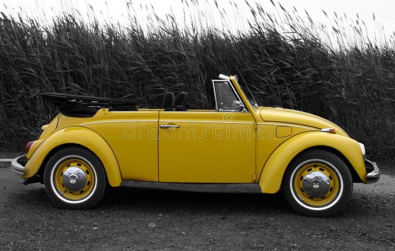 Geel VW royalty-vrije stock afbeelding