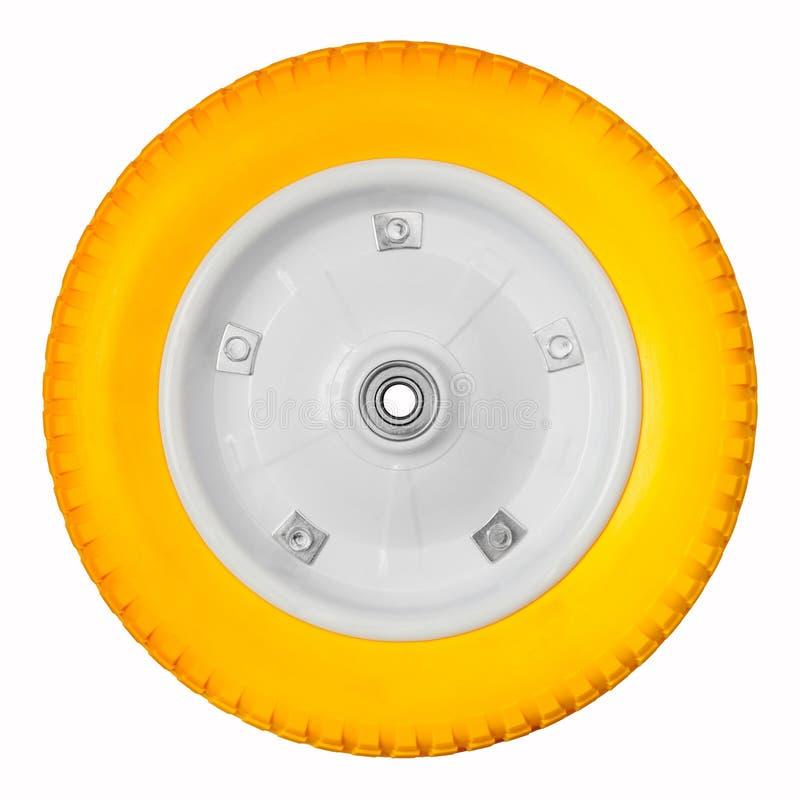 Geel wiel stock afbeelding