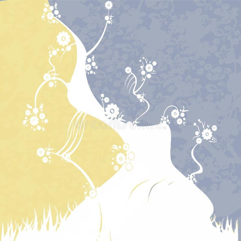 Geel-wit-blauwe achtergrond vector illustratie