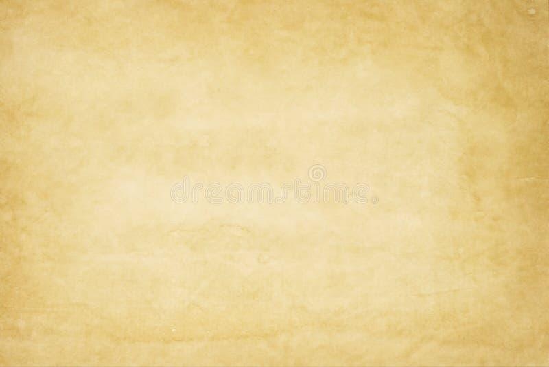 Geelachtige oude document textuur stock fotografie