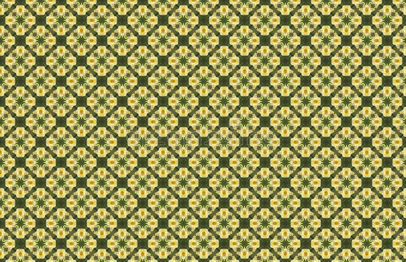 Geelgroen Bamboe Diamond Shape Abstract Geometric Pattern royalty-vrije illustratie