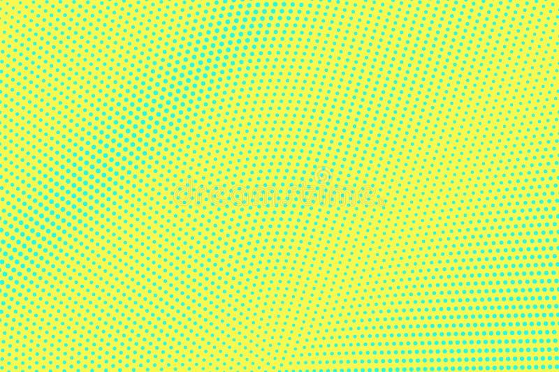 Geelgroene kleuren halftone vectorachtergrond Radiale halftone textuur Diagonale dotworkgradi?nt stock illustratie