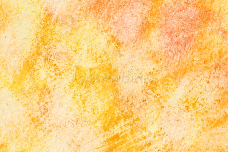 Geeloranje waterverfachtergrond royalty-vrije illustratie